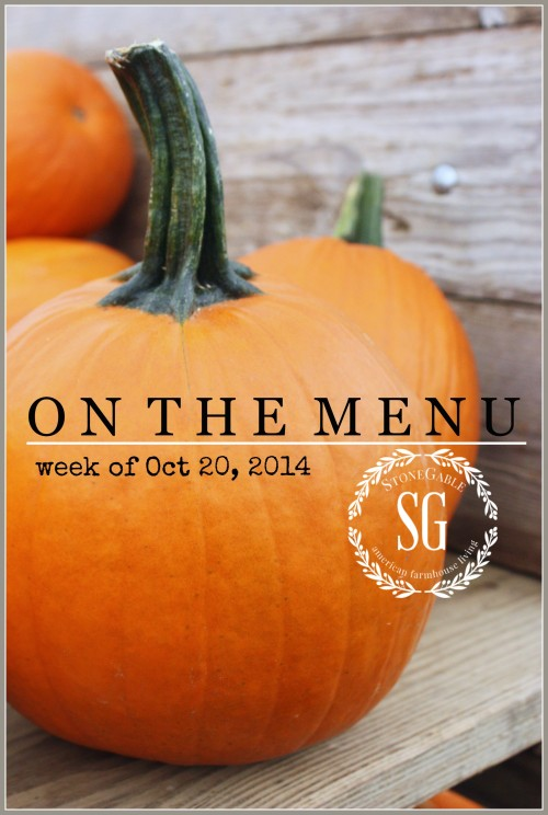 ON THE MENU WEEK OF OCTOBER 20, 2014