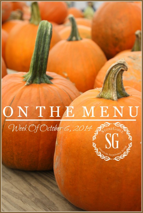 ON THE MENU WEEK OF OCT 6, 2014