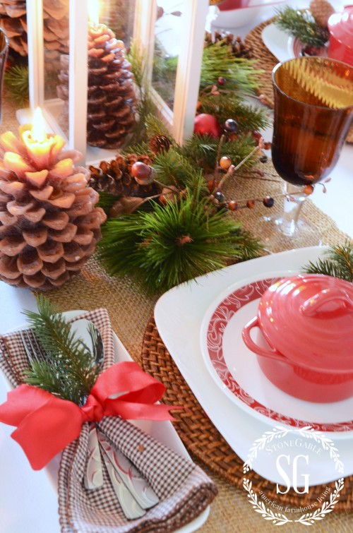 Christmas Coffee Tablescapes Woodland Christmas Tablescape