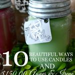 10 BEAUTIFUL WAYS TO USE CANDLES- $150.00 CANDLE GIVEAWAY-stonegableblog.com