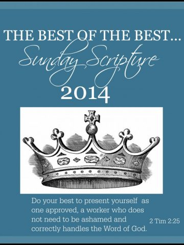 THE BEST OF THE BEST SUNDAY SCRIPTURES OF 2014-stonegableblog.com