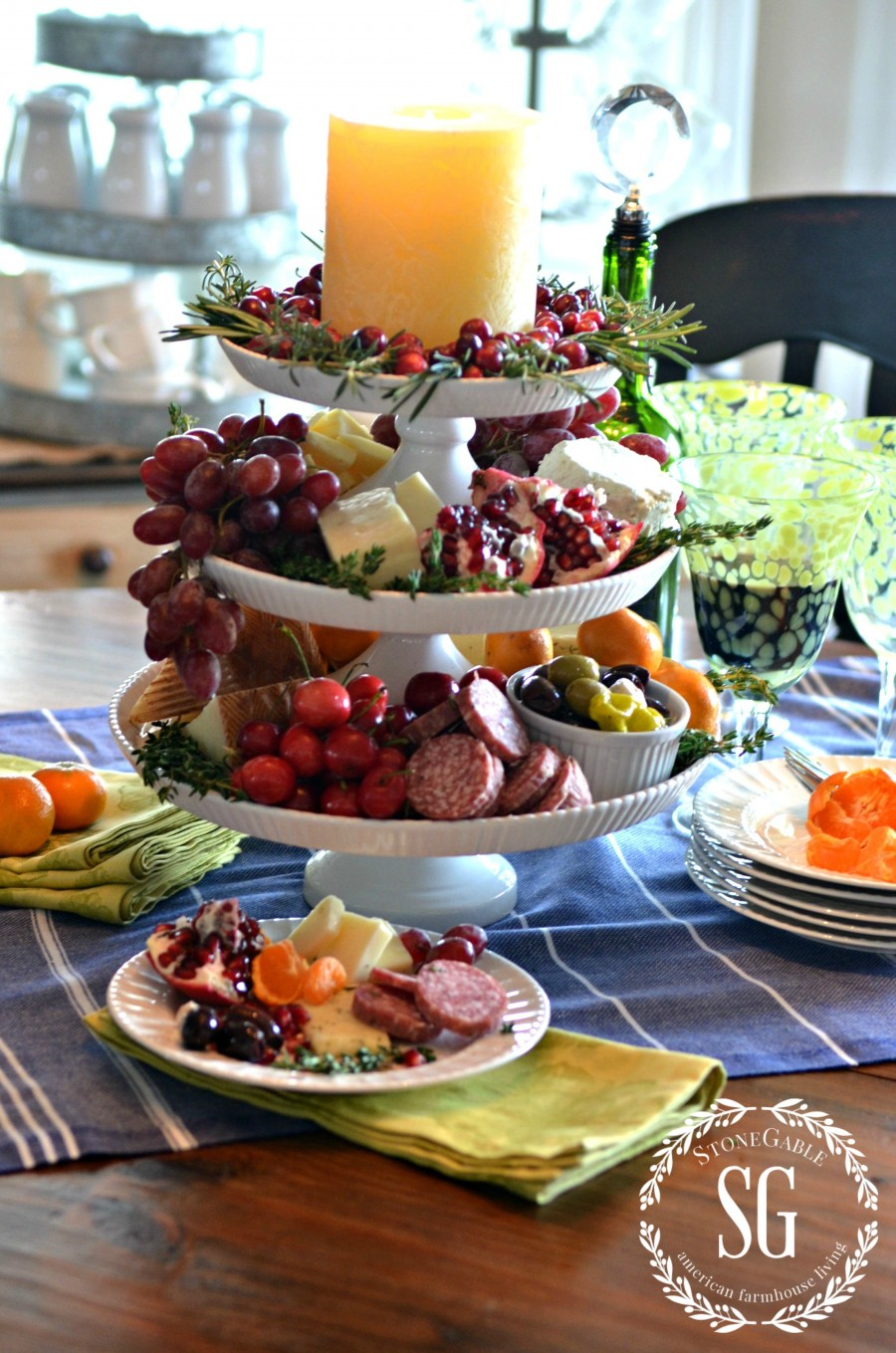Christmas Cheese Board Ideas.Vertical Cheese Board Stonegable