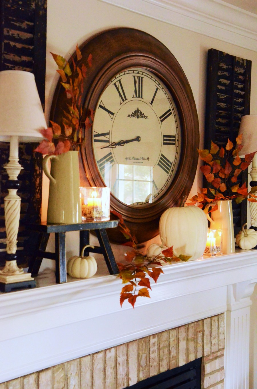 Easy Fall Mantel Stonegableblog Com