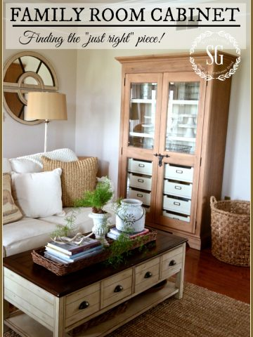 FAMILY ROOM CABINET-finding the right piece for any room-stonegableblog.com