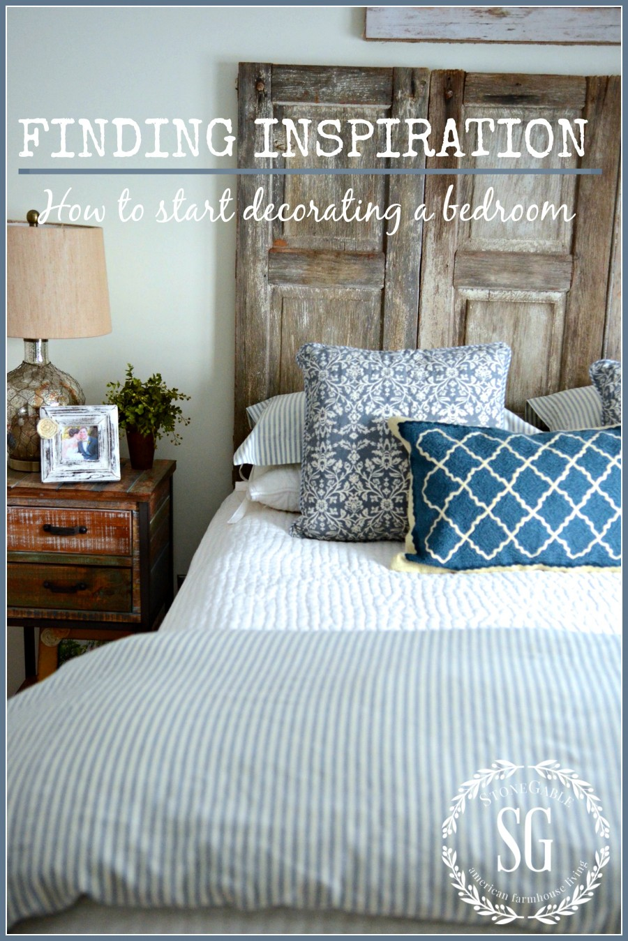 ... INSPIRATION-how to start decorating a bedroom-stonegableblog.com