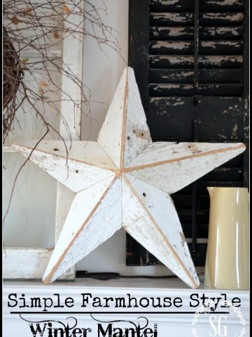 SIMPLE FARMHOUSE STYLE- Winter Mantel-stonegableblog.com