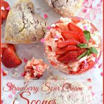STRAWBERRY SOUR CREAM SCONES AND WHIPPED STRAWBERRY BUTTER-stonegableblog.com