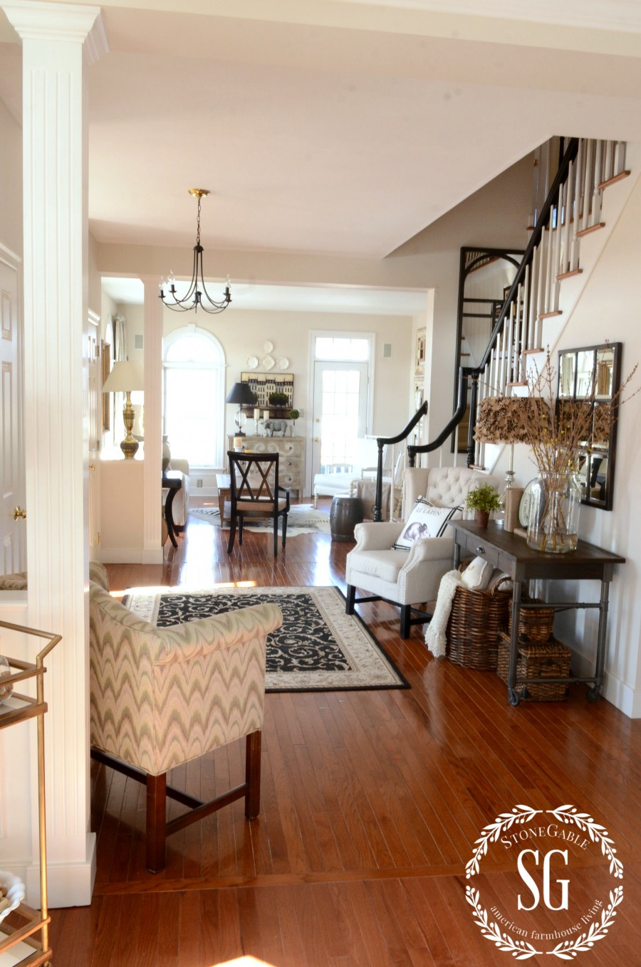 Is Foyer A Room : Adding an upholstered chair to the foyer breaking