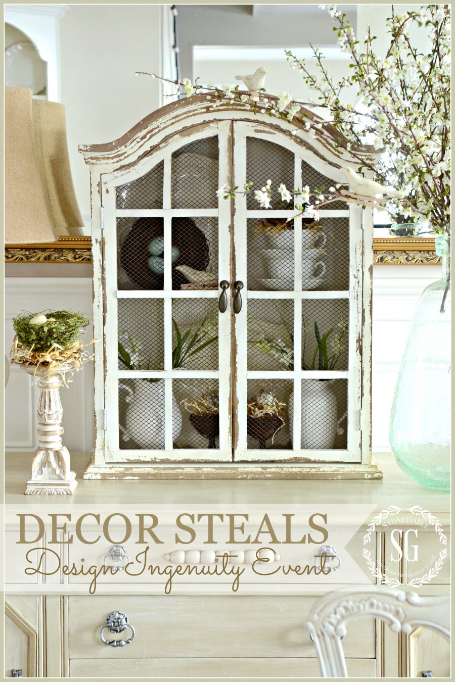 DECOR STEALS DESIGN INGENUITY EVENT... SPRING CUPBOARD - StoneGable