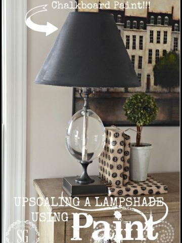 UPSCALING A LAMP WITH PAINT- a great way to make a chic statememt-stonegableblog.com