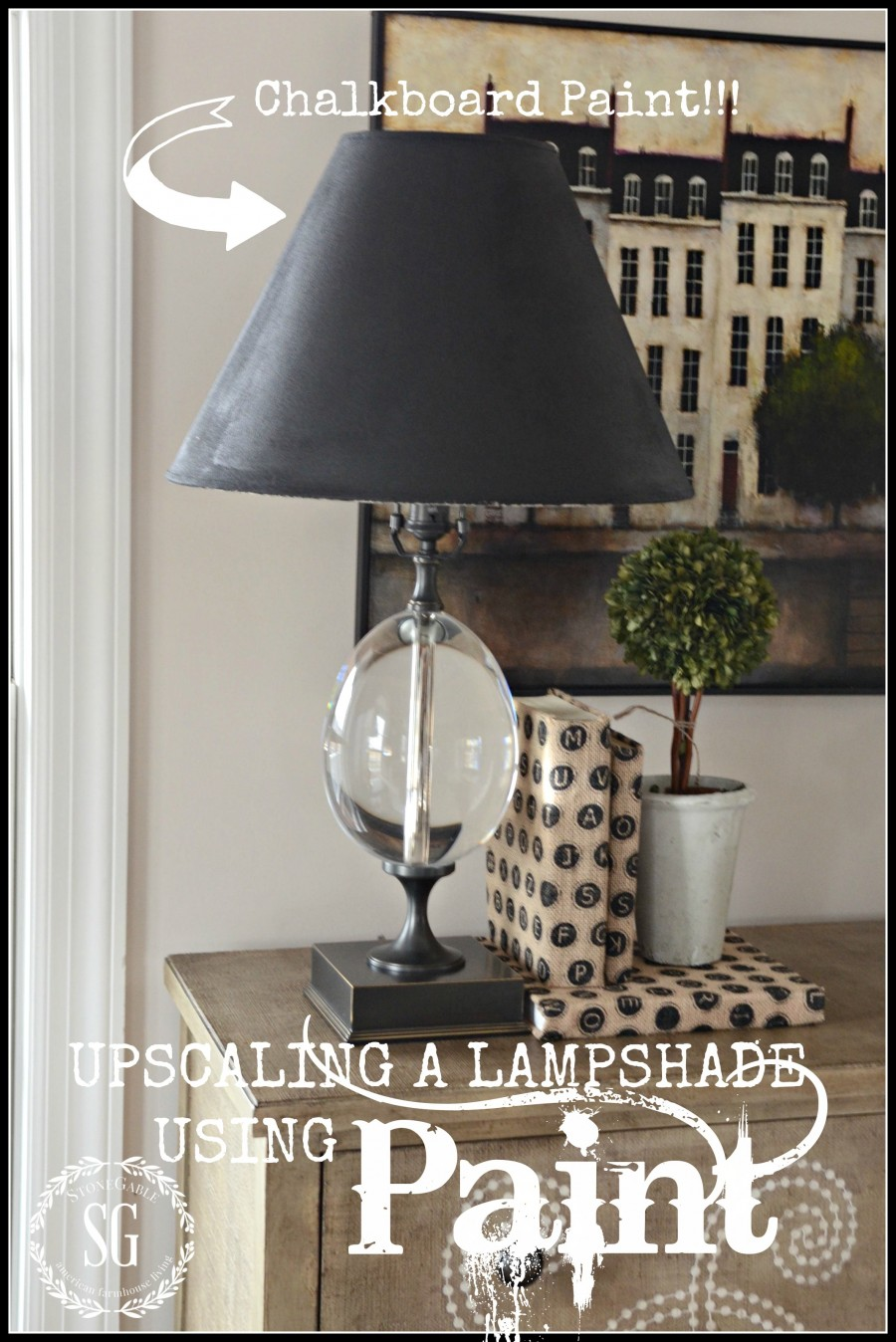 UPCYCLING A LAMP SHADE USING PAINT