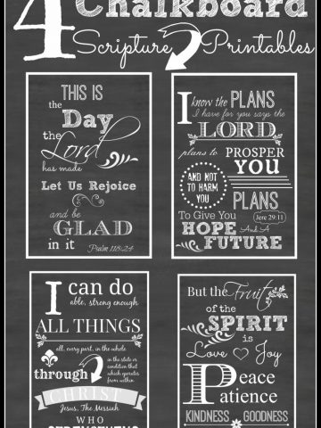 4 FAVORITE CHALKBOARD SCRIPTURE PRINTABLES-ready to be framed-stonegableblog.com
