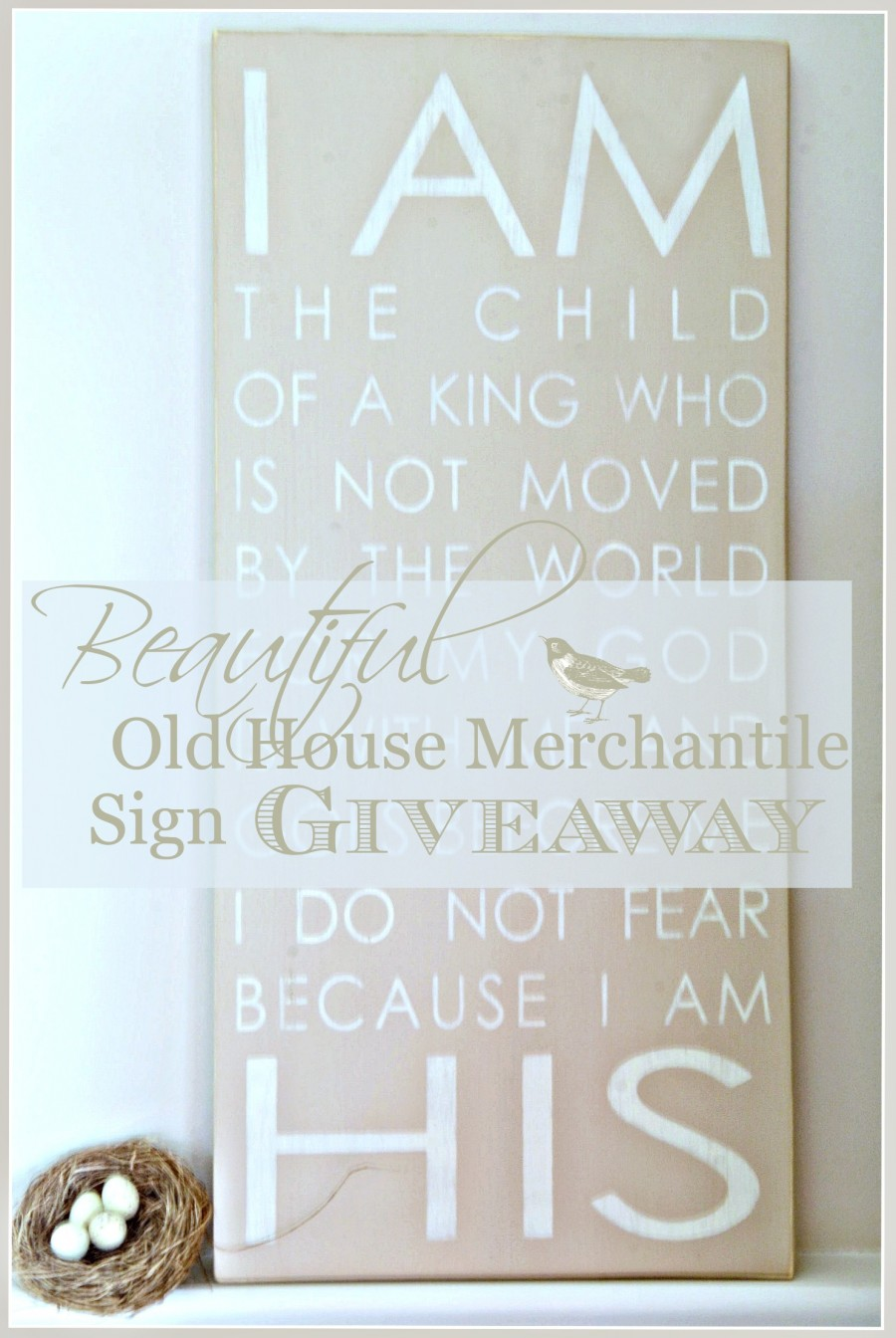 BEAUTIFUL OLD HOUSE MERCANTILE SIGN GIVEAWAY