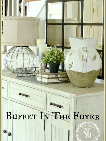 BUFFET IN FOYER-Finding the perfect fit-stonegableblog.com