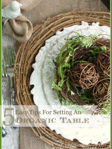 5 EASY TIPS FOR SETTING AN ORGANIC TABLE- simple, fresh and easy table setting tips-stonegableblog.com