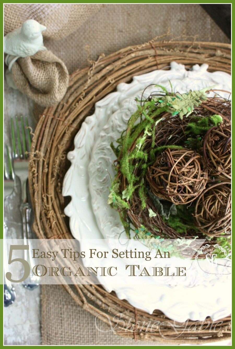 5 EASY TIPS FOR SETTING AN ORGANIC TABLE