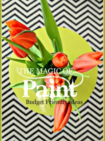 THE MAGIC OF PAINT-Budget friendly, easy to paint ideas-stonegableblog.com