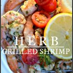 HERB GRILLED SHRIMP-easy and scrumptious-stonegableblog.com