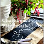 NO SEW CHALKBOARD PLACEMATS-So easy to make and fun to use!-stonegableblog.com