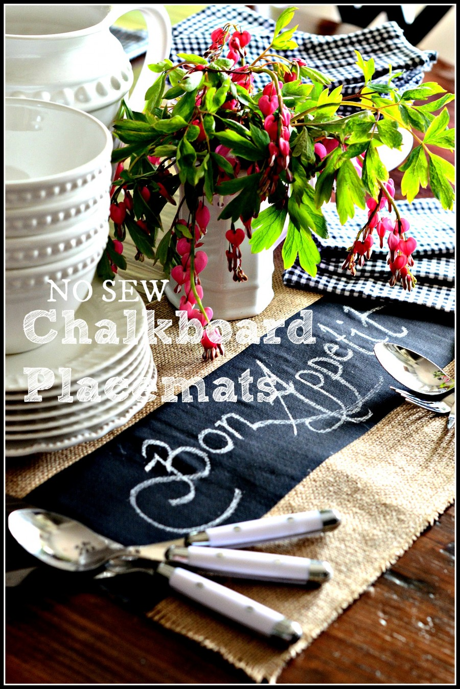 NO SEW CHALKBOARD PLACEMATS