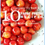 10 GARDEN TO TABLE RECIPES-Farm fresh, capturing the flavor of summer-stonegableblog.com