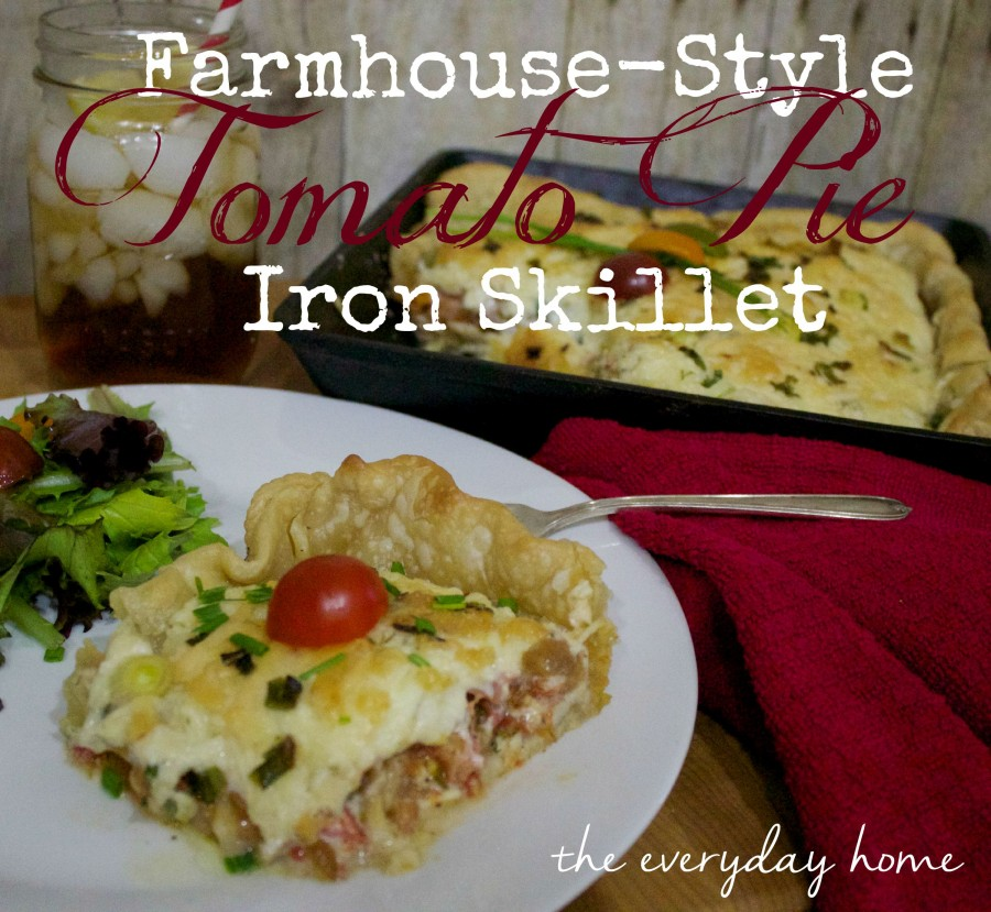Iron Skillet Tomato Pie | The Everyday Home | www.everydayhomeblog.com