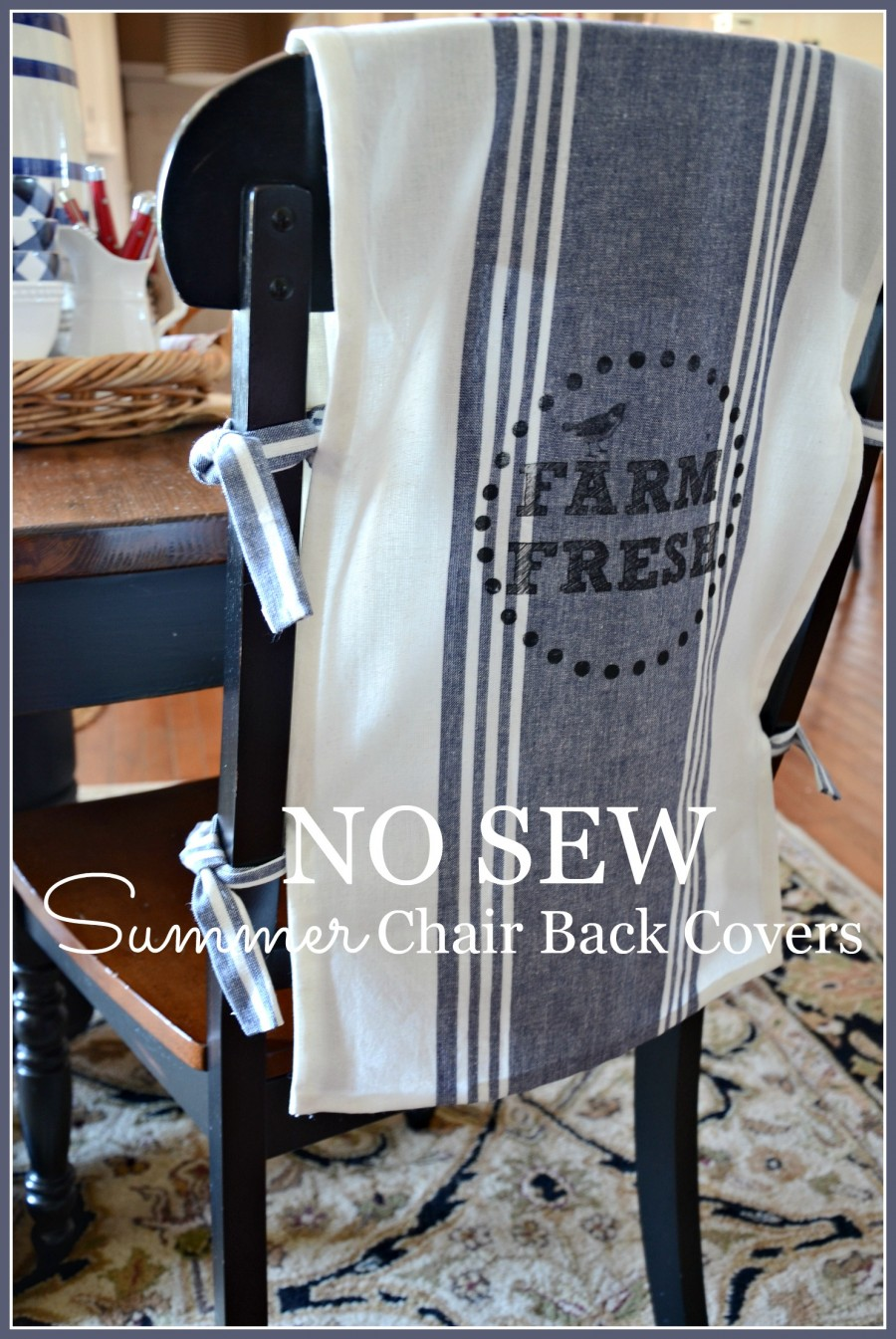 No Sew Chair Back Covers Stonegable