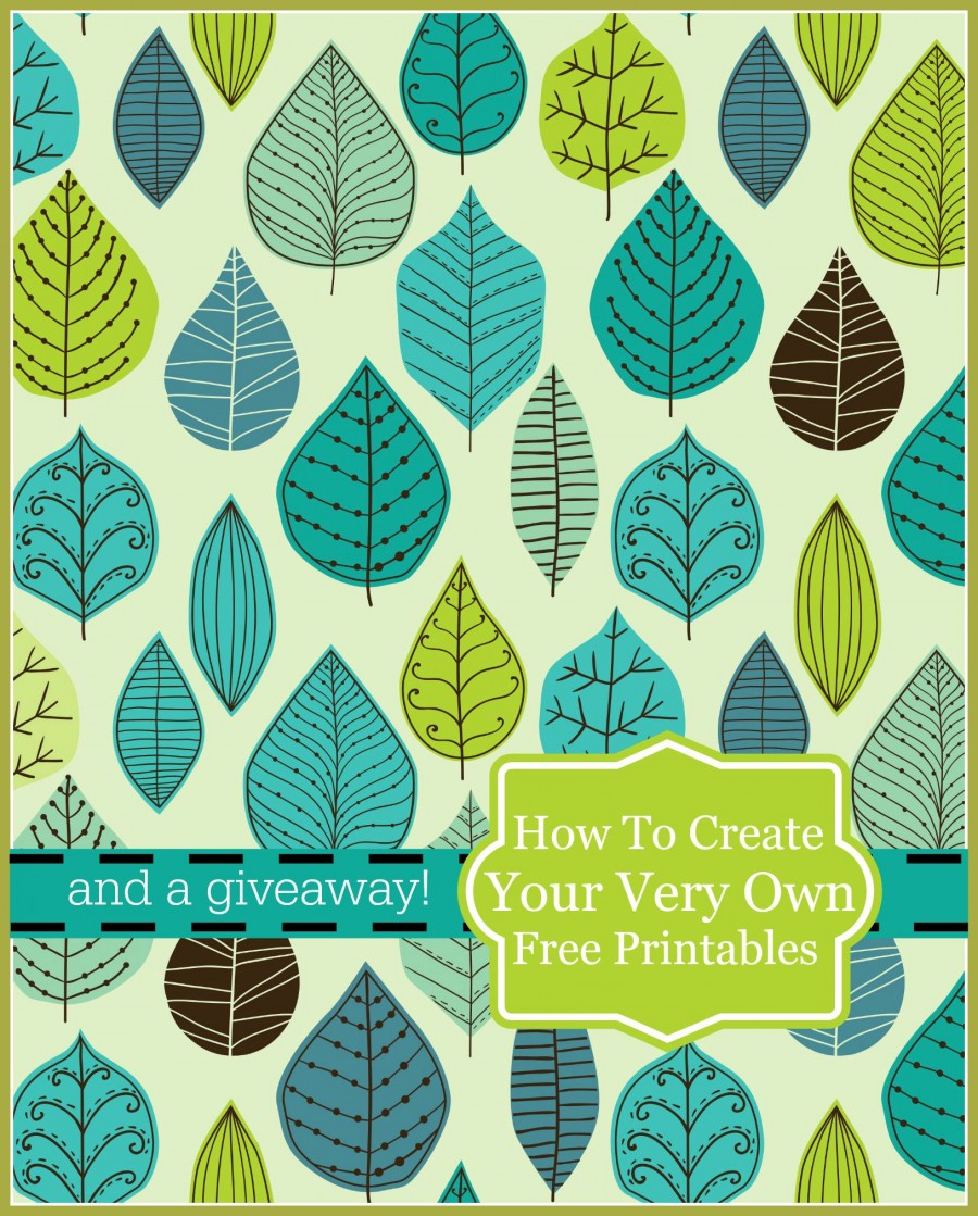 HOW TO MAKE YOUR VERY OWN PRINTABLES WITH GRAPHICSTOCK  AND TWO GIVEAWAYS