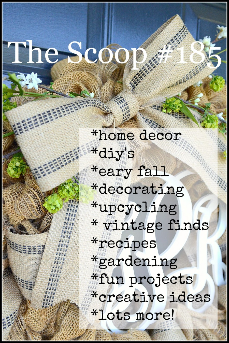 THE SCOOP- Hundreds of creative home and garden ideas. Lots of inspiration-stonegableblog.com