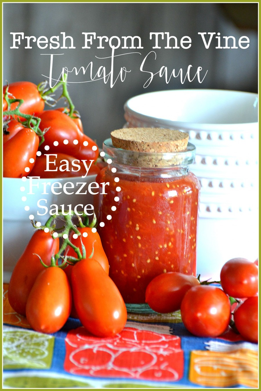FRESH FROM THE VINE FREEZER TOMATO SAUCE-AN EASY TO MAKE FREEZER SAUCE ...