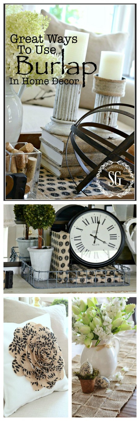 Great Ways To Use Burlap In Home Decor