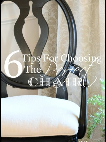 6 TIPS FOR CHOOSING THE PERFECT CHAIR