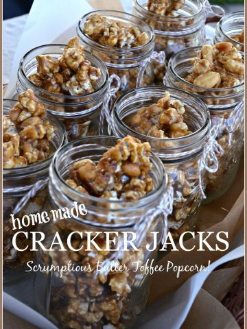 HOMEMADE CRACKER JACKS POPCORN WITH PEANUTS