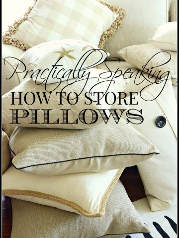 PRACTICALLY SPEAKING… HOW TO STORE PILLOWS