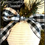 SPARKLING WHITE LANTERN CHRISTMAS ORNAMENTS