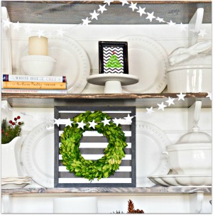 CHRISTMAS SHELVES- button-stonegableblog-4