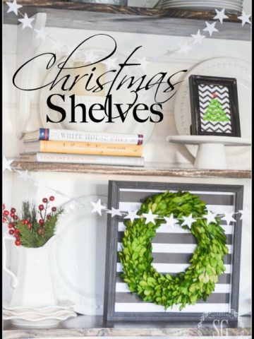 CHRISTMAS OPEN SHELVES