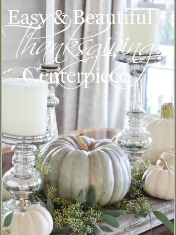 EASY PUMPKIN THANKSGIVING TABLESCAPE