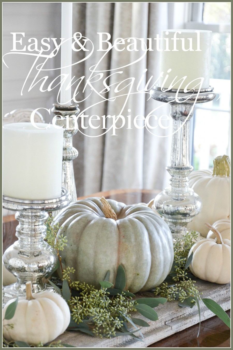 Easy pumpkin thanksgiving tablescape stonegable lovin