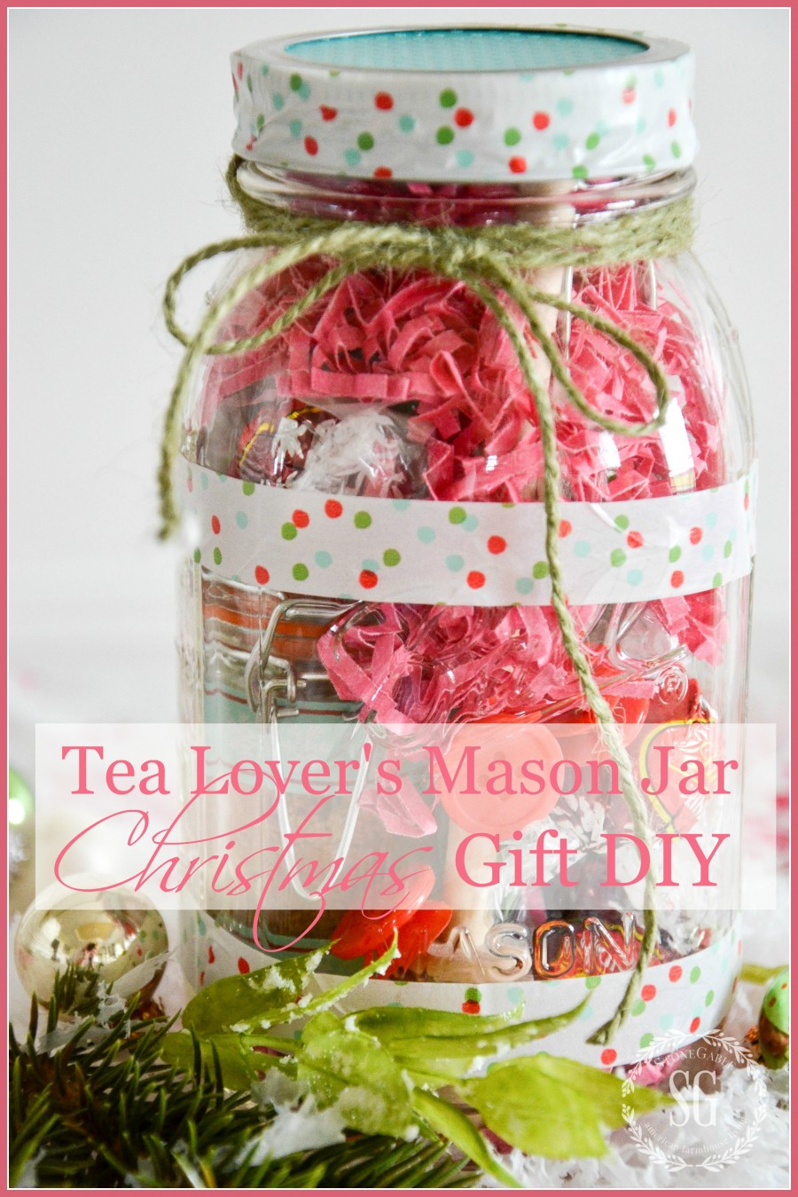 TEA LOVER\'S MASON JAR CHRISTMAS GIFT IDEA DIY