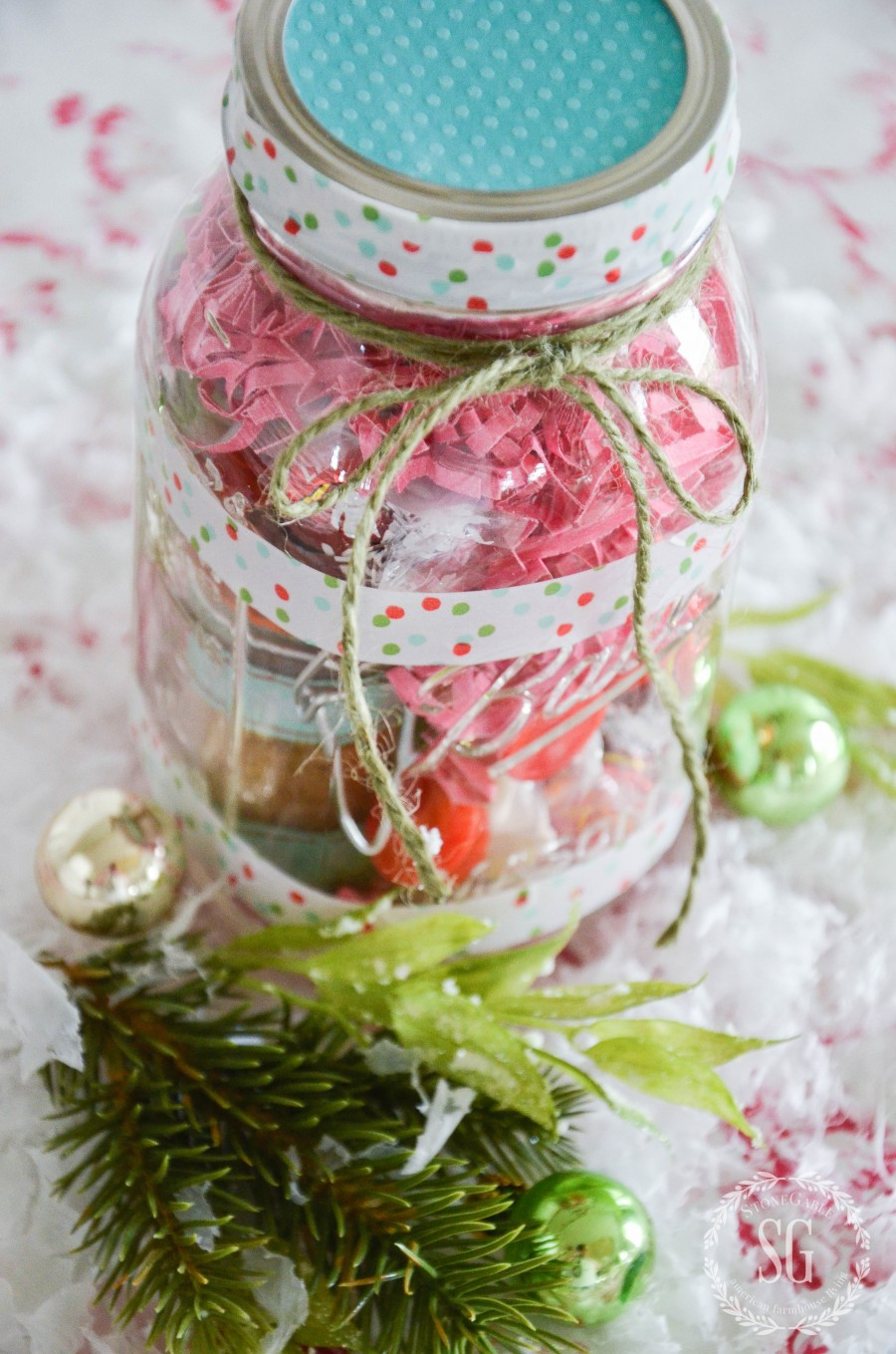 TEA LOVER'S MASON JAR CHRISTMAS GIFT IDEA DIY
