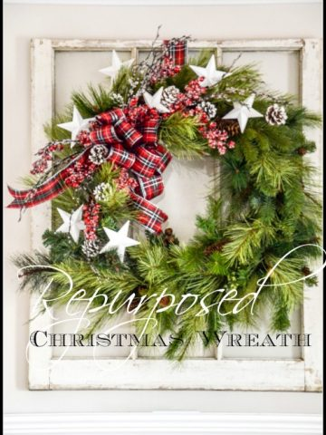 REPURPOSING A CHRISTMAS WREATH