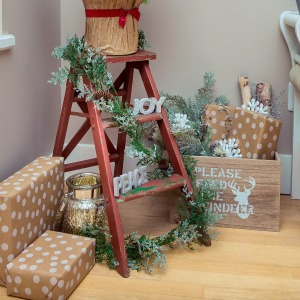 How to use presents in your holiday decor cropped