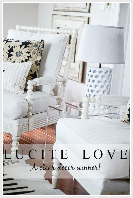 LUCITE LOVE… A CLEAR DECOR WINNER!