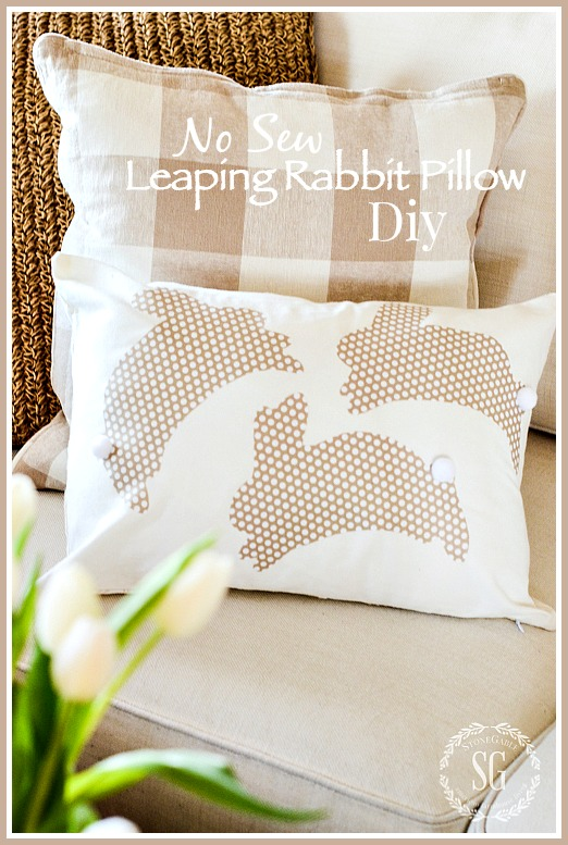 NO SEW LEAPING RABBIT PILLOW DIY