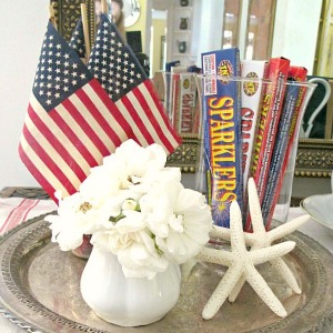 Tea stained flags tutorial easy affordable summer decor http://mysoulfulhome.com