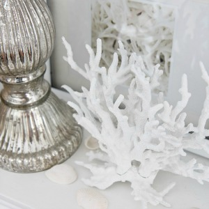 SETTINGS FOR FOUR diy faux coral