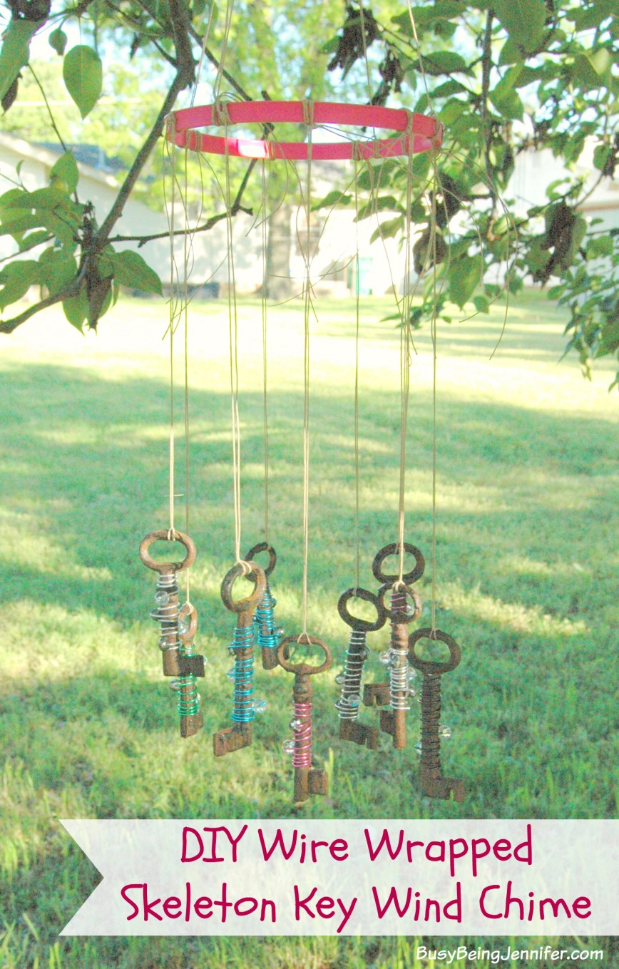 DIY-Wire-Wrapped-Skeleton-Key-Wind-Chime-BusyBeingJennifer.com_