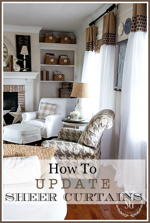 HOW TO UPDATE SHEER CURTAINS… AN EASY DIY