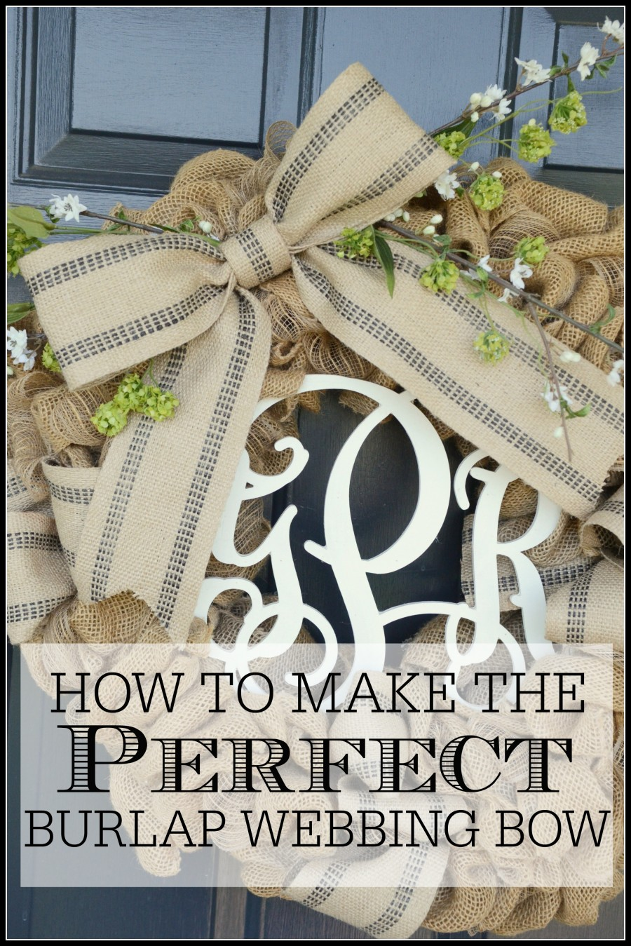 HOW TO MAKE THE PERFECT BURLAP BOW